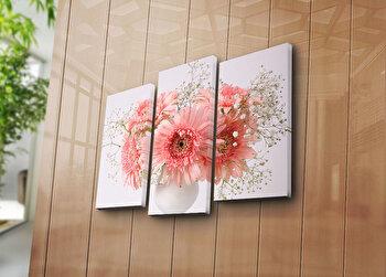 Tablou decorativ pe panza Horizon, 3 Piese, 237HRZ4246, Multicolor