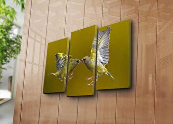 Tablou decorativ pe panza Sightly, 3 Piese, 252SGH1261, Multicolor