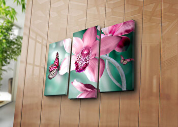 Tablou decorativ pe panza Sightly, 3 Piese, 252SGH1266, Multicolor de la Sightly