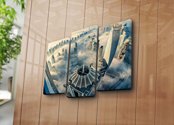 Tablou decorativ pe panza Sightly, 3 Piese, 252SGH1269, Multicolor