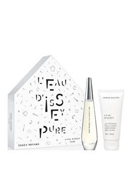 Set cadou Issey Miyake L'Eau D'Issey Pure (Apa de parfum 50 ml + Lotiune de corp 100 ml), pentru femei