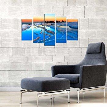 Tablou decorativ multicanvas Charm, 5 Piese, Peisaj, 223CHR1991, Multicolor de la Charm