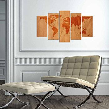 Tablou decorativ multicanvas Charm, 5 Piese, Pirat, 223CHR3946, Multicolor de la Charm