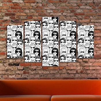 Tablou decorativ multicanvas Charm, 5 Piese, Chipuri, 223CHR1913, Multicolor