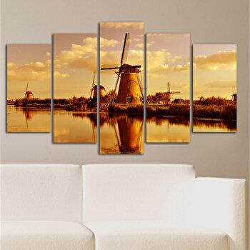 Tablou decorativ multicanvas Charm, 5 Piese, Peisaj, 223CHR1903, Multicolor de la Charm
