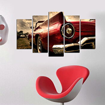 Tablou decorativ multicanvas Charm, 5 Piese, Retro, 223CHR1940, Multicolor de la Charm