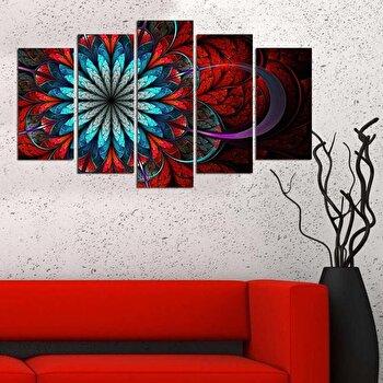 Tablou decorativ multicanvas Charm, 5 Piese, Gotic, 223CHR1948, Multicolor de la Charm