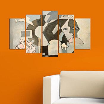 Tablou decorativ multicanvas Charm, 5 Piese, Abstract, 223CHR1951, Multicolor de la Charm