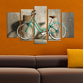 Tablou decorativ multicanvas Charm, 5 Piese, Retro, 223CHR1959, Multicolor de la Charm