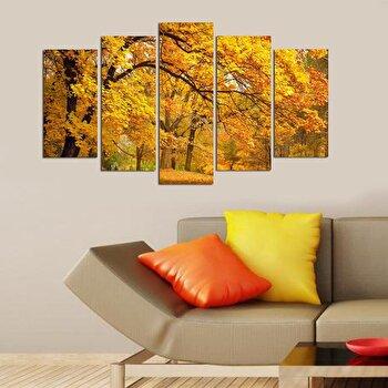 Tablou decorativ multicanvas Charm, 5 Piese, Natura, 223CHR1961, Multicolor