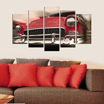 Tablou decorativ multicanvas Charm, 5 Piese, Retro, 223CHR1967, Multicolor de la Charm