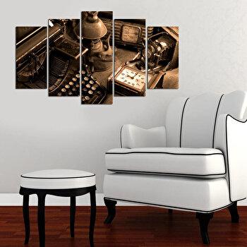 Tablou decorativ multicanvas Charm, 5 Piese, Vintage, 223CHR1975, Multicolor de la Charm