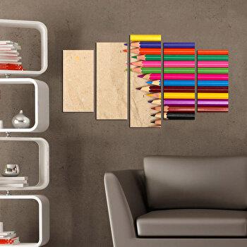 Tablou decorativ multicanvas Charm, 5 Piese, Retro, 223CHR1986, Multicolor de la Charm