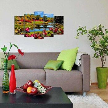 Tablou decorativ multicanvas Charm, 5 Piese, Peisaj, 223CHR2951, Multicolor de la Charm