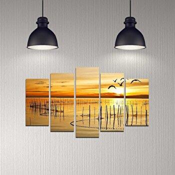 Tablou decorativ multicanvas Melody, 5 Piese, 232MLD2901, Multicolor de la Melody