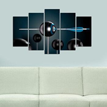 Tablou decorativ multicanvas Melody, 5 Piese, 232MLD1972, Multicolor