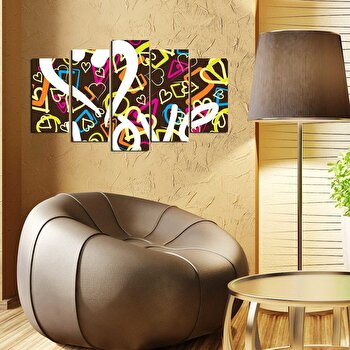Tablou decorativ multicanvas Pure, 5 Piese, 250PUR2901, Multicolor de la Pure