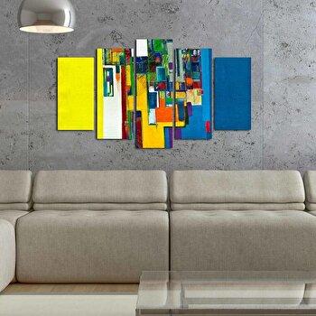 Tablou decorativ multicanvas Pure, 5 Piese, 250PUR1912, Multicolor de la Pure