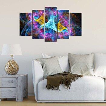 Tablou decorativ multicanvas Pure, 5 Piese, 250PUR1916, Multicolor de la Pure