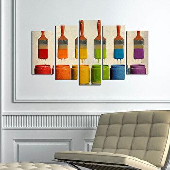 Tablou decorativ multicanvas Pure, 5 Piese, 250PUR1918, Multicolor de la Pure
