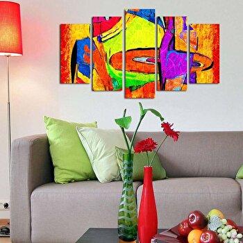 Tablou decorativ multicanvas Pure, 5 Piese, 250PUR1902, Multicolor de la Pure