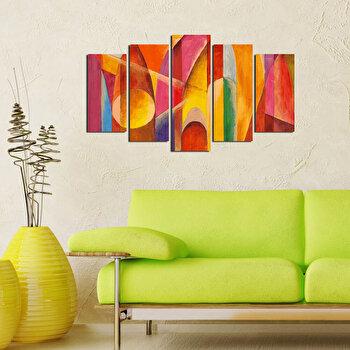 Tablou decorativ multicanvas Pure, 5 Piese, 250PUR1923, Multicolor