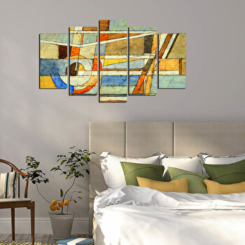 Tablou decorativ multicanvas Pure, 5 Piese, 250PUR1925, Multicolor