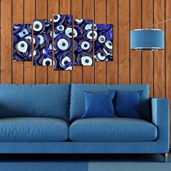 Tablou decorativ multicanvas Pure, 5 Piese, 250PUR1934, Multicolor