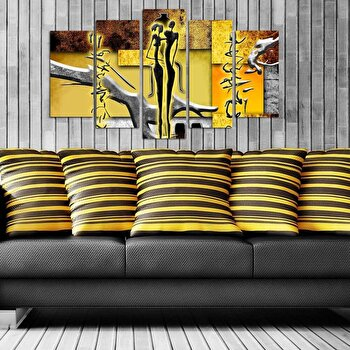 Tablou decorativ multicanvas Pure, 5 Piese, 250PUR1942, Multicolor