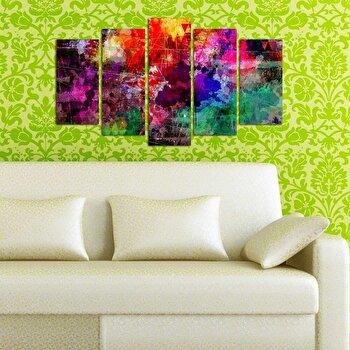 Tablou decorativ multicanvas Pure, 5 Piese, 250PUR1964, Multicolor