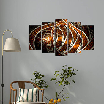 Tablou decorativ multicanvas Pure, 5 Piese, 250PUR1907, Multicolor