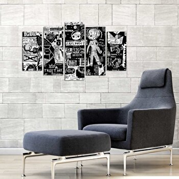 Tablou decorativ multicanvas Pure, 5 Piese, 250PUR1973, Multicolor