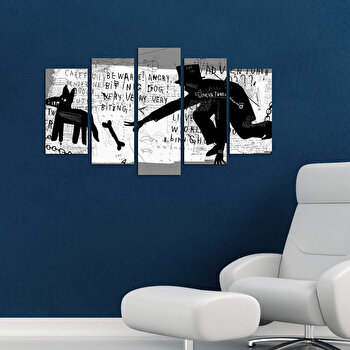 Tablou decorativ multicanvas Pure, 5 Piese, 250PUR1978, Multicolor