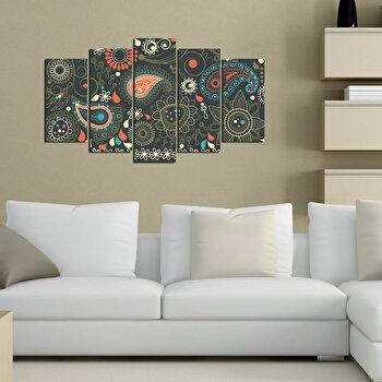 Tablou decorativ multicanvas Pure, 5 Piese, 250PUR1999, Multicolor