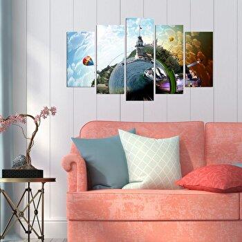 Tablou decorativ multicanvas Pure, 5 Piese, 250PUR2936, Multicolor