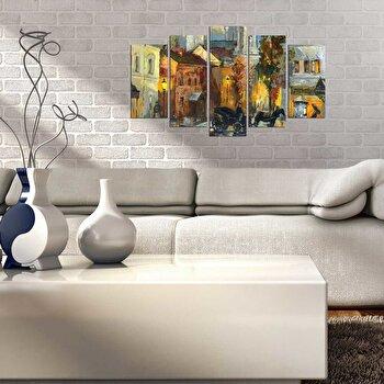 Tablou decorativ multicanvas Pure, 5 Piese, 250PUR2944, Multicolor