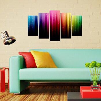 Tablou decorativ multicanvas Pure, 5 Piese, 250PUR2957, Multicolor