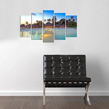Tablou decorativ multicanvas Pure, 5 Piese, 250PUR2992, Multicolor