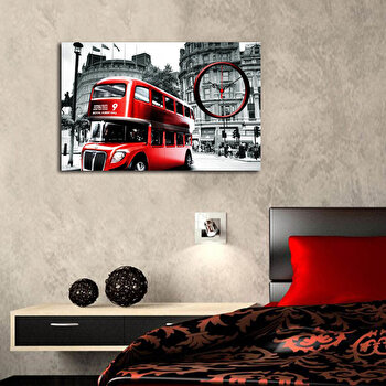 Ceas decorativ de perete Clockity, 248CTY1635, Multicolor de la Clockity