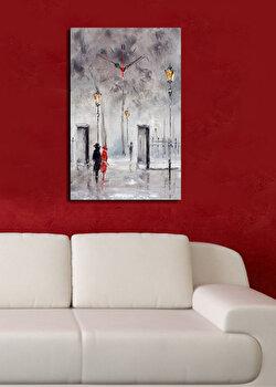 Ceas decorativ de perete Christmas Wall, 229CST1601, Multicolor de la Christmas Wall