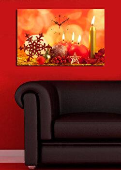 Ceas decorativ de perete Christmas Wall, 229CST1602, Multicolor de la Christmas Wall