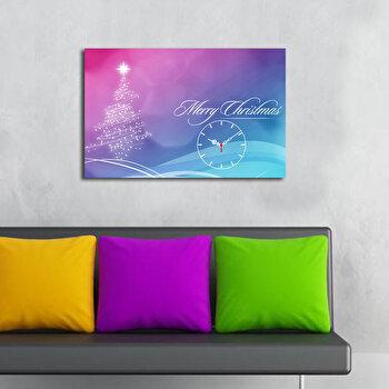 Ceas decorativ de perete Christmas Wall, 229CST1605, Multicolor