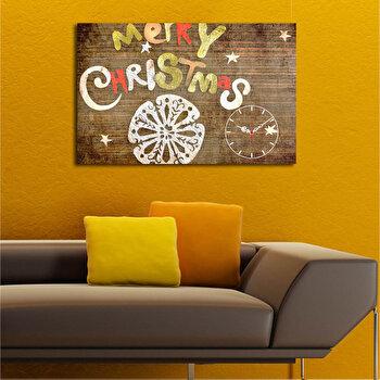 Ceas decorativ de perete Christmas Wall, 229CST1606, Multicolor de la Christmas Wall
