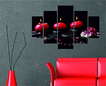 Tablou decorativ multicanvas Destiny, 5 Piese, 247DST1900, Multicolor de la Destiny