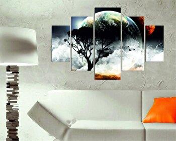 Tablou decorativ multicanvas Destiny, 5 Piese, 247DST1904, Multicolor de la Destiny