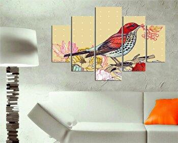 Tablou decorativ multicanvas Destiny, 5 Piese, Peisaj, 247DST1915, Multicolor de la Destiny