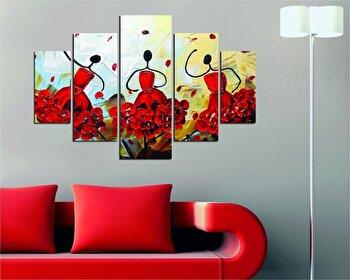 Tablou decorativ multicanvas Destiny, 5 Piese, Abstract, 247DST1923, Multicolor de la Destiny