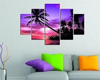 Tablou decorativ multicanvas Destiny, 5 Piese, Peisaj, 247DST1931, Multicolor de la Destiny