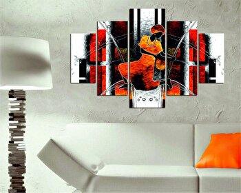 Tablou decorativ multicanvas Destiny, 5 Piese, Retro, 247DST1906, Multicolor de la Destiny