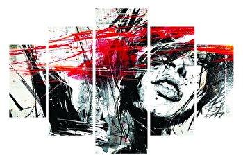 Tablou decorativ multicanvas Destiny, 5 Piese, Abstract, 247DST1940, Multicolor de la Destiny
